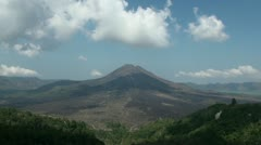 Volcano landscape timelapse Bali Indonesia Stock Footage