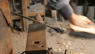 Blacksmith working Stock Footage