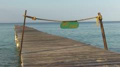 Pier - sea - holiday Stock Footage
