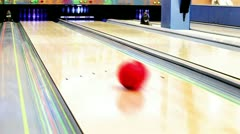 Bowling Strike moment Stock Footage