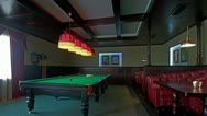 Stock Video Footage of 4K. Club For A Game Of Billiards. FULL HD, 4096x2304.