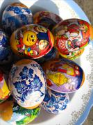 Nice easter eggs with images Stock Photos
