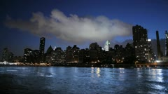 new york time lapse cityscape skyline areal view 1080 HD - stock footage