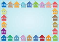 Stock Illustration of houses frame