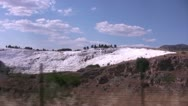 Stock Video Footage of Long Shot of the White slopes of Pamukkale