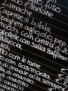 Italialainen ruoka menu Kuvituskuvat