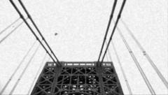 8mm Crossing of Entire Span of New York City Bridge Stock Video - stock footage