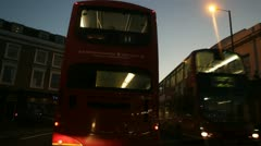 Night bus public transport Stock Footage
