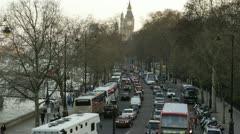 Traffic congestion in  London - stock footage