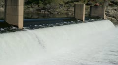 Dam Close Up with Moving Water Stock Footage