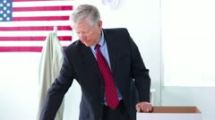 Senior Man Laid Off from Work - stock footage