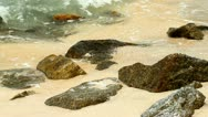 Wave And Rocks Stock Footage