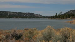Big Bear Lake Shoreline Stock Footage