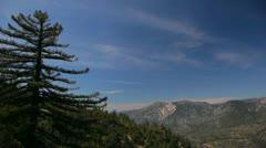 Looking West at Keller Peak in the San Bernardino Mountains Stock Footage