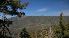 Valley in San Bernardino National Forest Stock Footage