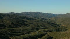 View Off Ortega Highway in Southern California - stock footage