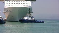 Kusadasi Tug Boat Stock Footage