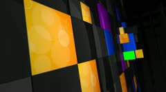 Green Screen Cube Wall Stock Footage