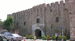 Historic Hotel Karavansaray in Kusadasi, Turkey Stock Footage