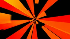 Orange solid rays with alpha Stock Footage