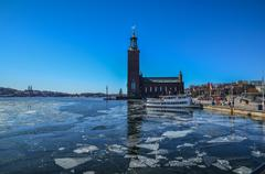 Stockholm city hall, sweden Stock Photos