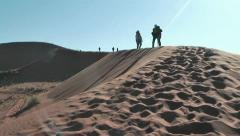Photographer on big daddy dune,Soussuvlei,Namibia,Africa Stock Footage