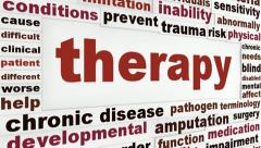 Therapy medical words design Stock Footage