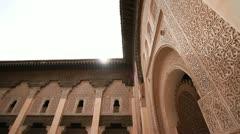 Ali ben Youssef Medersa, Marrakech, Morocco Stock Footage