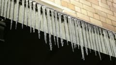 Icicles. First day of spring. Stock Footage