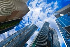 Urban landscape. skyline of modern skyscrapers Stock Photos