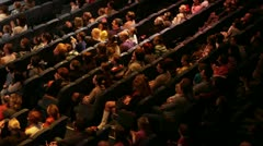 People at the theatre performance. - stock footage