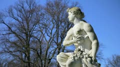 Sightseeing, historical sculptures and a blue sky in 1080p Stock Footage