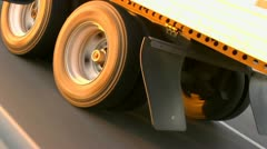 Truck Tires Close Up HIghway - stock footage