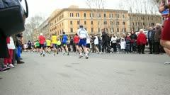 """Rome - MARCH 17, 2013: """"Maratona di Roma (Rome Marathon)"""", in Rome, Italy Stock Footage"""