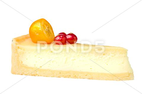 Stock photo of cheesecake with berries
