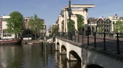 Amsterdam Magere Brug (Skinny Bridge.) Stock Footage