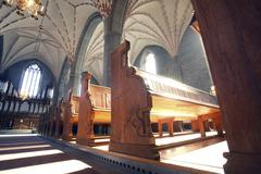 vadstena  cloister church - stock photo