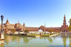 Plaza de espana seville, andalusia, spain, europe Stock Photos