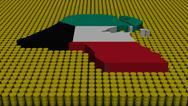 Kuwait map flag with oil barrels illustration Stock Illustration