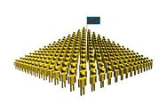 Pyramid of abstract people with democratic republic of congo flag illustratio Stock Illustration
