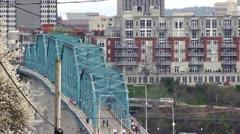 Walnut St Bridge WS - stock footage