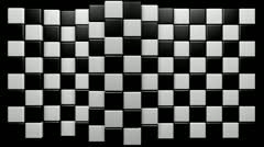 Mograph chequered ripple Stock Footage