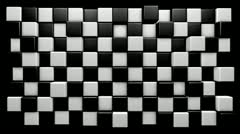 Mograph chequered cubes Stock Footage