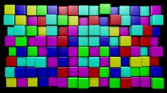 Stock Video Footage of Tasty mograph candy cubes that rotate