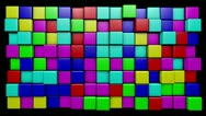 Stock Video Footage of Mograph candy cubes