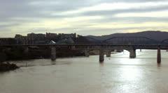 Walnut Bridge  WS Stock Footage