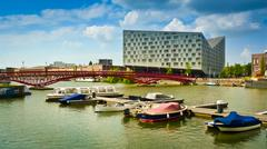 amsterdam eastern docklands - stock photo