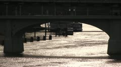 TN River under Market St Stock Footage
