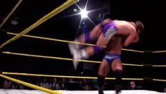 Sports: Pro Wrestling Match - WWE Star Davairi Powerslam Stock Footage