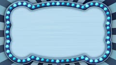 flash light blue marquee loop - stock footage